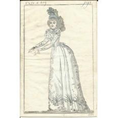 GRAVURE de MODE du XVIIIe s. ENGRAVING FASHION XVIIIth. (8)