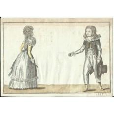 GRAVURE de MODE du XVIIIe s. ENGRAVING FASHION XVIIIth. (12)