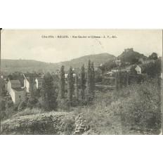 CPA - MALAIN, Rue Gaudot et Chateau, vers 1920.