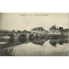 CPA -GENLIS, Le Pont sur la Norges, vers 1910.