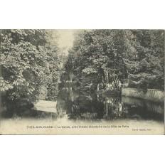 CPA - THEIL-sur-VANNE, La Vanne, près l'usine élévatoire, vers 1910.