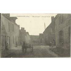 CPA: COURCELLES-sur-VESLE, Rue principale, vers 1910