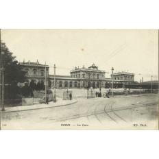 CPA: REIMS, La Gare, vers 1910