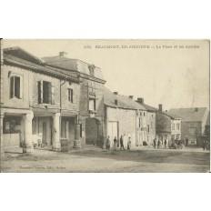 CPA: BEAUMONT-EN-ARGONNE, La Place et les Arcades, vers 1900