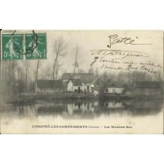 CPA: LONGPRE-LES-CORPS-SAINTS, Les Moulins Bas, vers 1910