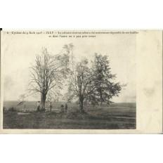 CPA: ILLY, Le Calvaire après le Cyclone, 1905