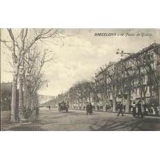 CPA: BARCELONA, 18 paseo de Gracia, années / anos 1930
