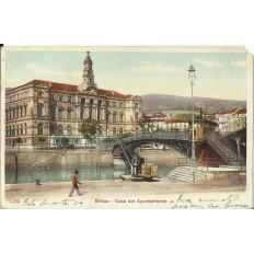 CPA: BILBAO, Casa del Ayuntamiento, années / anos 1910