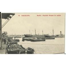 CPA: BARCELONA, Deposito Flotante de Carbon, années / anos 1910