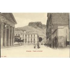 CPA: ALICANTE, Teatro Municipal, années / anos 1900