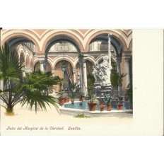 CPA: SEVILLA, Patio del Hospital de la Caridad, années / anos 1900