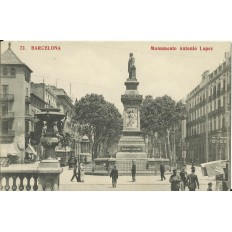 CPA: BARCELONA, Monumento Antonio Lopez, années / anos 1910