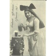 CPA: (REPRO). ALSACE, La Bière de l'Est, vers 1900.