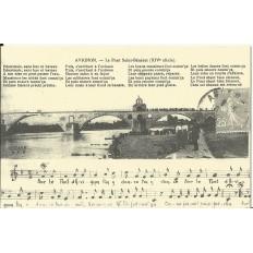 CPA: (REPRO). AVIGNON, Le Pont Saint-Bénézet, vers 1920.