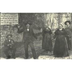 CPA: (REPRO). Bourrée d'AUVERGNE, vers 1900.