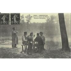 CPA: (REPRO). CHAVILLE, Au bord de l'Etang de l'Ursine, vers 1900.