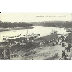 CPA: (REPRO). SAINT-CLOUD, La Seine et l'Embarcadère, vers 1900