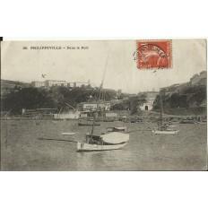 CPA: BELGIQUE, PHILIPPEVILLE, Dans le Port, années 1900