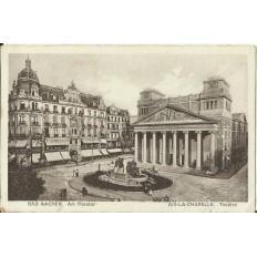 CPA: ALLEMAGNE, BAD AACHEN, Am Theater, jahre1920
