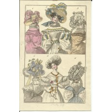 GRAVURE XIXe s. MODE / FASHION, COSTUMES, an 1829. (1)