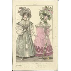GRAVURE XIXe s. MODE / FASHION, COSTUMES, an 1829. (2)