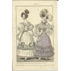 GRAVURE XIXe s. MODE / FASHION, COSTUMES, an 1829. (3)