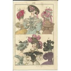 GRAVURE XIXe s. MODE / FASHION, COSTUMES, an 1829. (4)