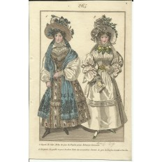 GRAVURE XIXe s. MODE / FASHION, COSTUMES, an 1829. (6)