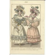 GRAVURE XIXe s. MODE / FASHION, COSTUMES, an 1829. (7)
