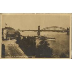 CPA: ALLEMAGNE, BONN Rheinanlagen mit Rheinbrucke, jahre1920