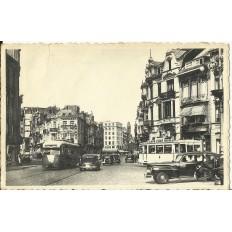 CPA: BELGIQUE, OSTENDE, Rue Royale, années 1950
