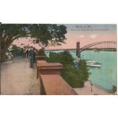 CPA: ALLEMAGNE, BONN, Blick vom Alten Zoll auf die Rheinbrucke, jahre1920