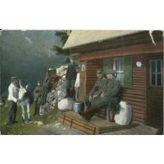CPA: ALLEMAGNE, KRIEGSBILDER AUS DEN VOGESEN, Offiziers, jahre 1910