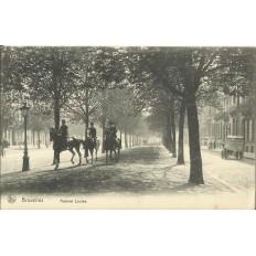 CPA: BELGIQUE, BRUXELLES, Avenue Louise, années 1900