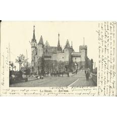 CPA: BELGIQUE, ANVERS, Le Steen, vers 1900