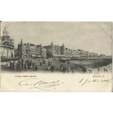 CPA: BELGIQUE, OSTENDE, Une vue en bord de Mer, vers 1900