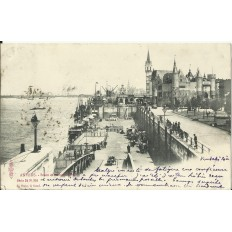 CPA: BELGIQUE, ANVERS, Steen et Embarcadère, vers 1900