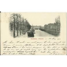 CPA: BELGIQUE, TOURNAI, L'Escaut, vers 1900