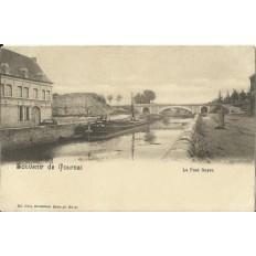 CPA: BELGIQUE, TOURNAI, Le Pont Soyer, vers 1900