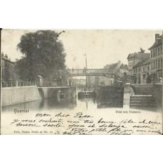 CPA: BELGIQUE, TOURNAI, Pont aux Pommes, vers 1900