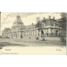 CPA: BELGIQUE, TOURNAI, La Gare, vers 1900