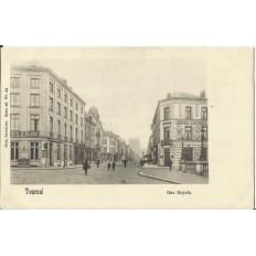CPA: BELGIQUE, TOURNAI, Hotels Rue Royale, vers 1900