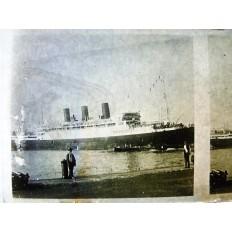 PAQUEBOT, Années 1920, FRANCE-MAROC. PLAQUE PHOTOGRAPHIQUE.