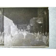 MAROC, MEKNES, PHOTOGRAPHIE / VERRE, 1926. UNE VUE (2)