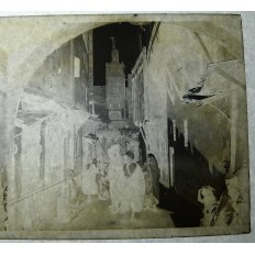 MILITAIRES AVEYRONNAIS 1926 MEKNES, PHOTOGRAPHIE. Dans la rue (3)