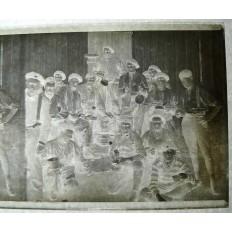 MILITAIRES AVEYRONNAIS 1926 MEKNES, PHOTOGRAPHIE/VERRE (1)