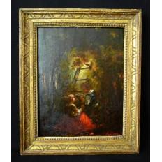 Marius CIVAL (1817-1870) Peintre Marseillais, OFFRANDE DE FLEURS, Huile sur Panneau.