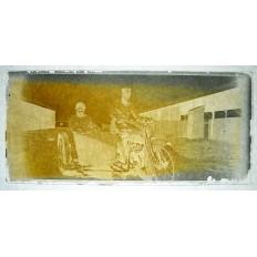 MILITAIRES AVEYRONNAIS 1926 MEKNES, PHOTOGRAPHIE/VERRE (2)