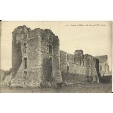 CPA: RUINES du CHATEAU de GONNORD, vers 1910