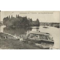 CPA: PECQ-SAINT-GERMAIN, Débarcadère du Touriste, vers 1900
